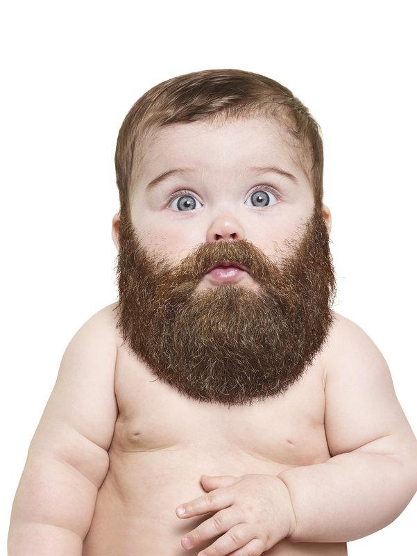bébés avec une grosse barbe