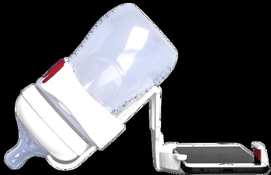 Porte biberon pour smartphone: swipe and feed