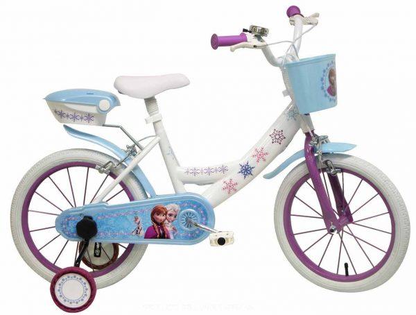 apprendre à faire du vélo à son enfant - vélo reine des neiges