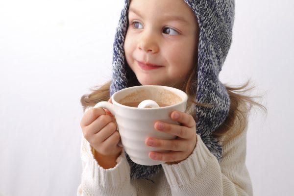 Un bon chocolat chaud en famille