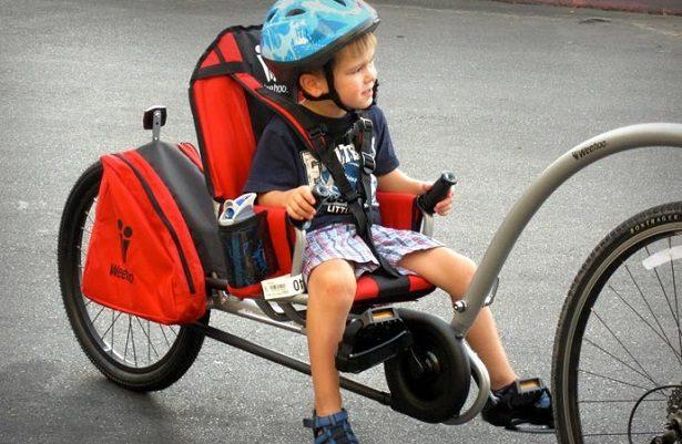 Remorque vélo enfant à pédales