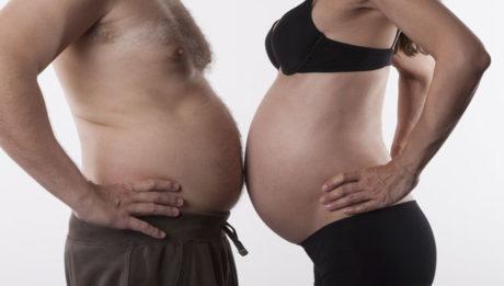 papa prend du poids pendant la grossesse