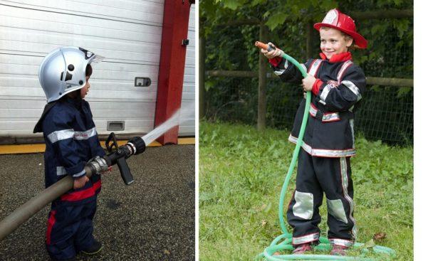 Emotion lors de leur venue à la caserne ! Portrait Papa-pompier - Crédit photo @danslapeaud'unefille et @eurakids