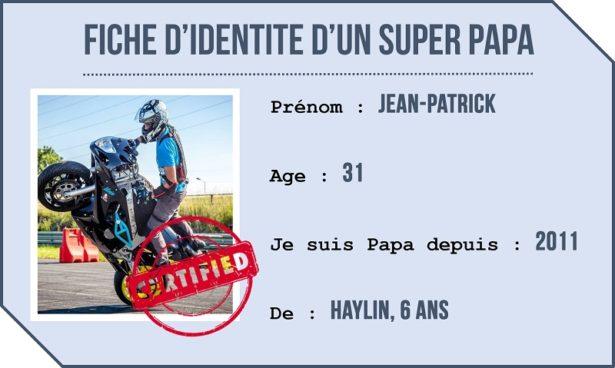 Fiche identité - Portrait Papa Biker Acrobate