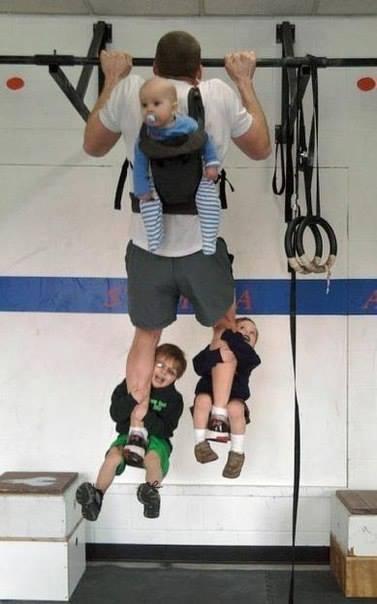 Je fais du sport avec mes enfants - Crédit photo @reddit