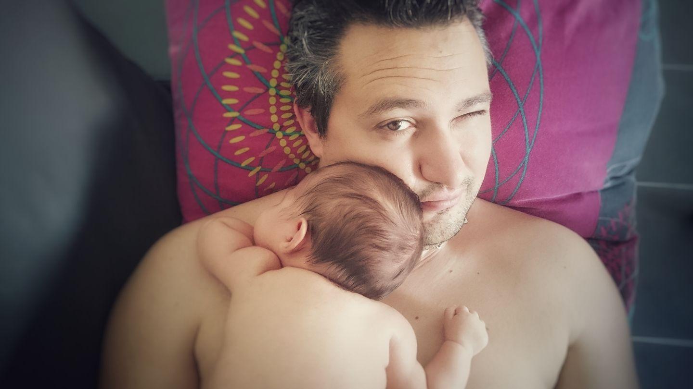Mathieu et sa fille Lola pour un moment parfait entre Père et Fille - Crédit photo @Matzac