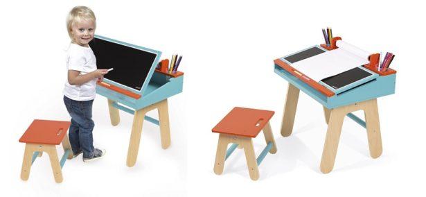 Bureau en bois pour les petits