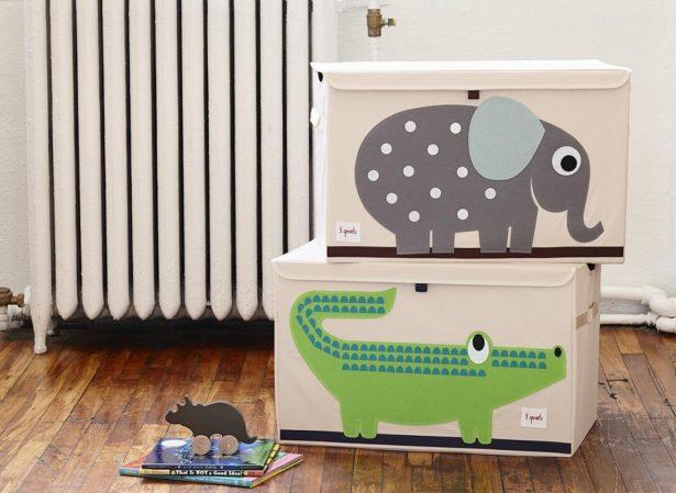 Coffres à jouets animaux pour ranger sa chambre - aménager la chambre de son enfant