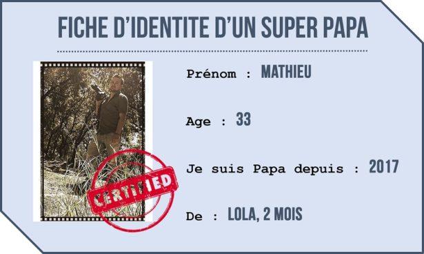 Fiche d'identité d'un Papa à temps plein, Mathieu