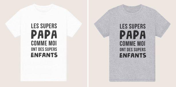 T-Shirt Super Papa = Supers Enfants