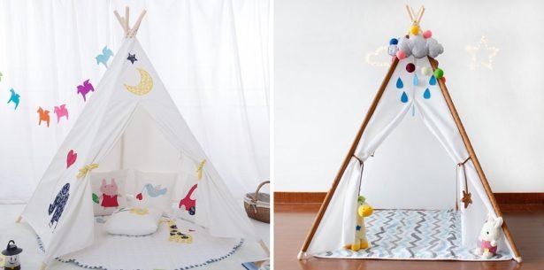 Tipi pour créer un espace de jeux pour son enfant - aménager la chambre de son enfant