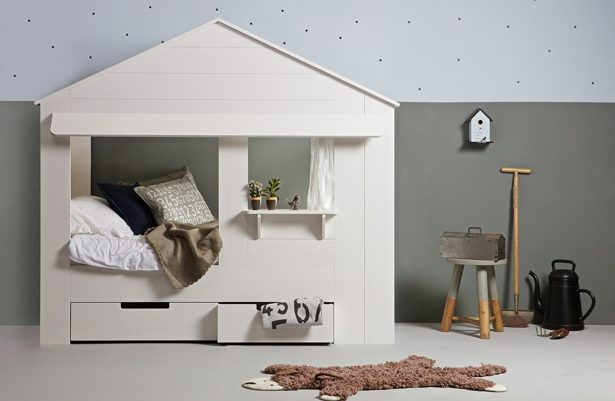 Un lit cabane incroyable pour tout ranger et se sentir comme dans un cocon ! - aménager la chambre de nos enfants