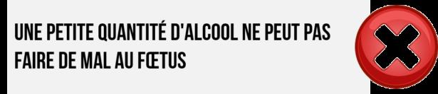 Une petite quantité d'alcool ne peut pas faire de mal au fœtus: ON EN SAIT RIEN