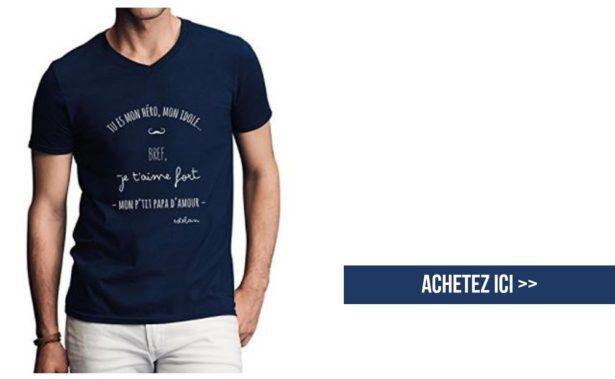 T-shirt à personnaliser - idées cadeau papa