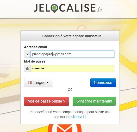 Portail Jelocalise.fr sur ordinateur ou mobile