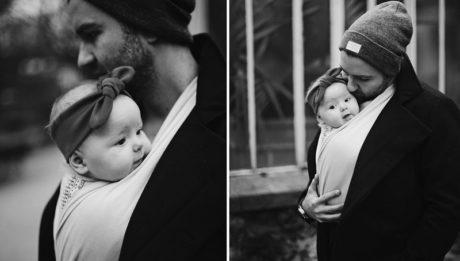 Porte-bébé écharpe tendance - crédit photo Pinterest Studio Roméo