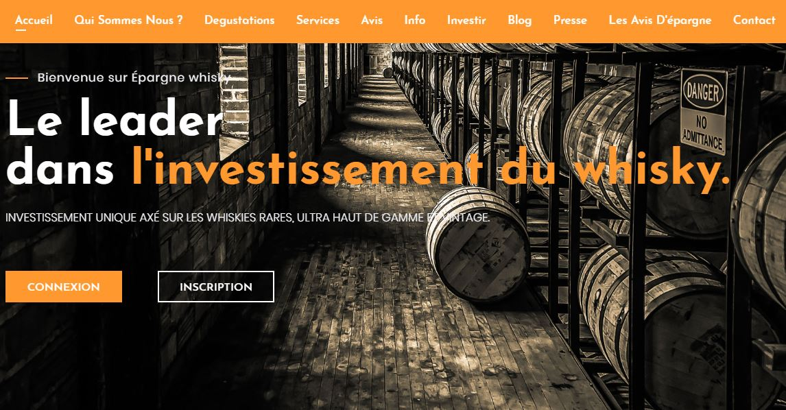 Epargne whisky : leader dans l'investissement du whisky