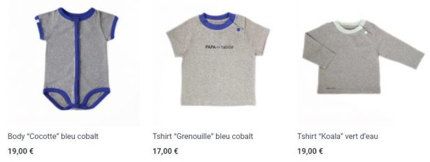 PAPA m'habille : vêtements de puericulture éco-friendly