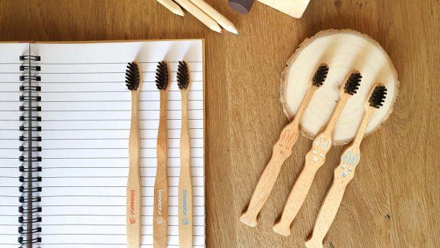 Brosse à dents en bois pour enfant